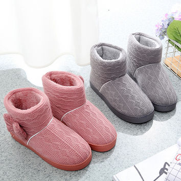 Couple Cotton Winter Unisex Anti-skid Thicken Slippers [9582092495]