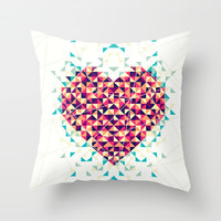 A heart is made of bits and pieces Throw Pillow by VessDSign | Society6