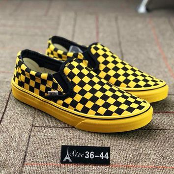 Vans CaliforniaDept Tartan Woman Men Canvas Old Skool Flats Sport Shoes