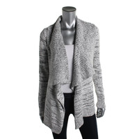 INC Womens Two-Tone Knit Sweatercoat