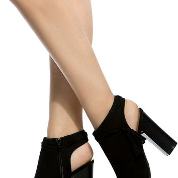 Black Faux Suede Cut Out Peep Toe Booties @ Cicihot. Booties spell style, so if you want to show what you're made of, pick up a pair. Have fun experimenting with all we have to offer!
