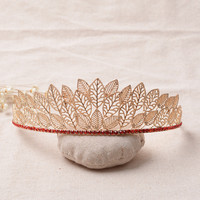 Crown Vintage Leaf Headwear Hair Accessories Wedding Dress Accessory Prom Dress [6258303942]