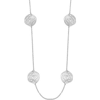 DAISY STATION NECKLACE IN SILVER