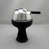 1pcs Silicone Hookah Bowl and Stainless topper Set