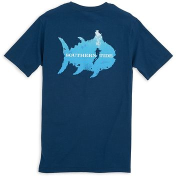 Scuba Pocket Tee Shirt in Yacht Blue by Southern Tide