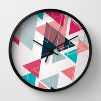 Triangle Pattern Wall Clock by Ashley Hillman