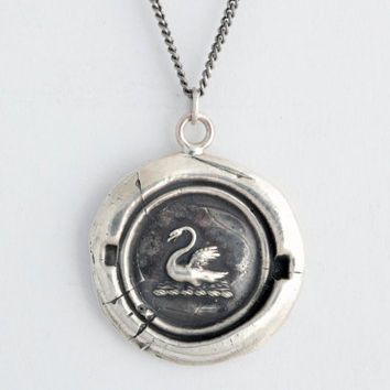 Swan Wax Seal Necklace | Necklaces | Talismans | Pyrrha