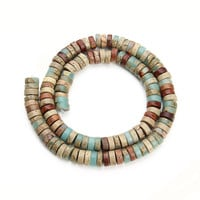 Dia 4 6 8 10mm Oblate Natural Stone Beads For Jewelry Making Loose Spacer Beads Fitting Diy Necklace Bracelet Findings F3678