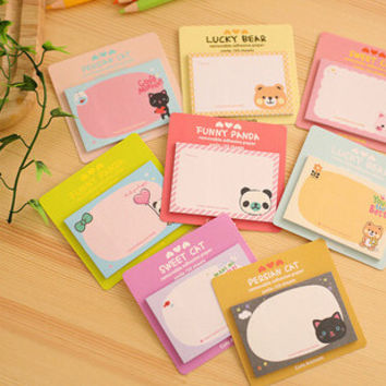 Kawaii Little Animals Mini Memo Notepad note Book&memo Pad sticky Notes Book Mark