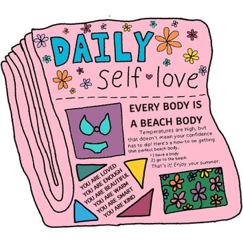 Self-Love Newspaper Sticker