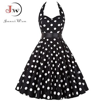 Plus Size Polka Dot Party Dresses