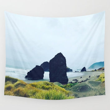 Oregon Beach Stones Sky Wall Tapestry Yoga Meditation Mandala Wall Hanging