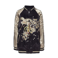 EMBROIDERED BOMBER JACKET - Blazers - Woman | ZARA United Kingdom
