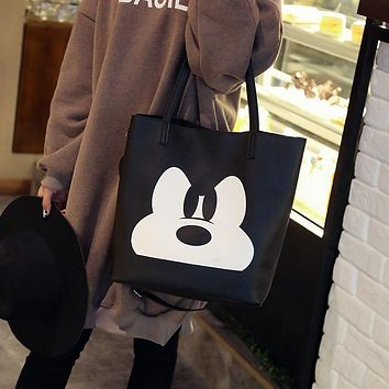 2017 Fashion PU Leather Handbag Women Joker Shoulder Bag Large Capacity Mickey Tote Bag Female Crossbody Bag Feminine Sac a Main