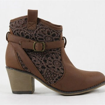Norte Dame Cafe Lace Boots