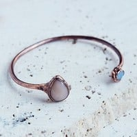 Free People Open Road Moonstone & Opal Cuff