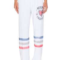Boxing Color Tanzy Sweatpant in White