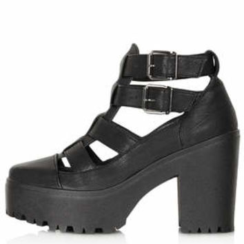 ARCADE Cut Out Chunky Boots - Black
