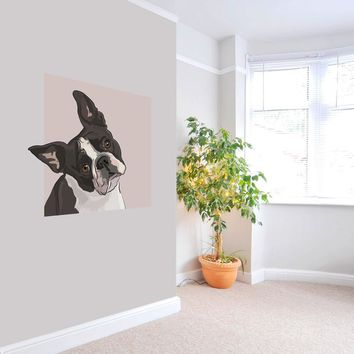 Lola - Boston Terrier Dog - Wall Decal