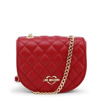 Love Moschino Red Shoulder Strap Clutch Bag