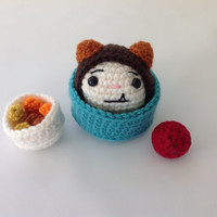 Dog Miniature Play Set - Crochet Toy - Stuffed Toy Animal - Plush Dog - Gifts for Kids - Pretend Play - Miniature Toys - READY TO SHIP