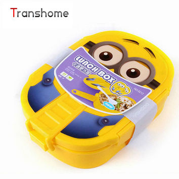TRANSHOME 2017 Cartoon Plastic Lunch Boxes Children School Lunch Box Cute Food Containers