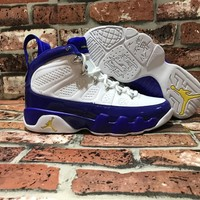 [ Free Shipping ]Nike Air Jordan 9 IX Retro Kobe PE Tour Yellow Purple Lakers Basketball Sneaker