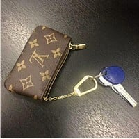 Louis Vuitton Monogram Canvas Trending Fashion Print Key Pouch M62650 Coffee G