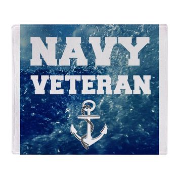 "Navy Veteran Soft Fleece Throw Blanket, 50""x60"" Stadium Blanket Sofa Bed Throw Blanket Kid Adult Warm Blanket"