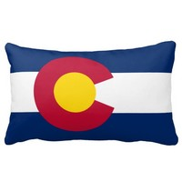 Colorado flag, American state flag Throw Pillow