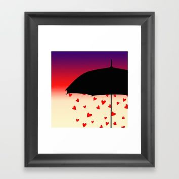 Never Mind The Rain Framed Art Print by oursunnycdays