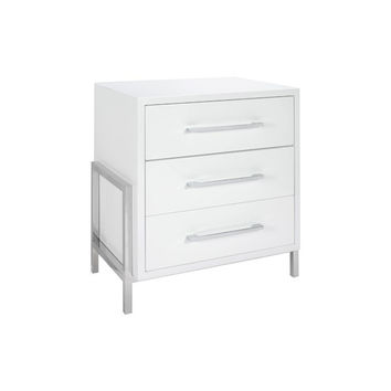 Cohen White Bed Side Table