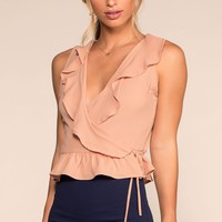 Bel Air Wrap Top - Blush