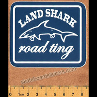 Land Shark Clothing Road Ting Skateboard Sticker
