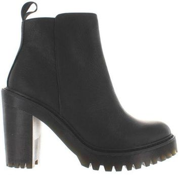 ONETOW Dr. Martens Magdalena - Black Leather High Chunky Heel/Platform Bootie