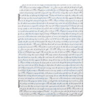Jane Austen Text White Blue iPad Case