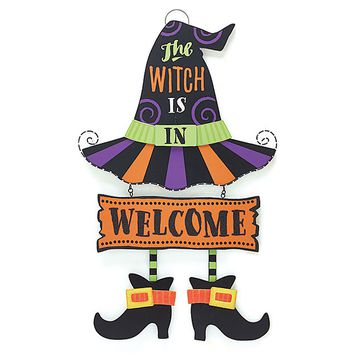 The Witch Is In Welcome Sign