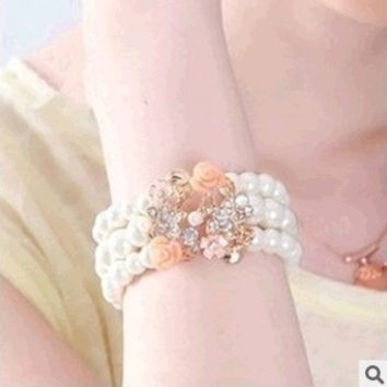 Fashion Candy Color Bracelet  Bangle Jewelry (Size: M, Color: White) = 1839006724