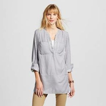 Women's Stripe Tunic Fresh White - Merona™