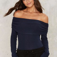Dial It Down Off-the-Shoulder Top