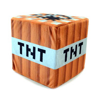 Minecraft TNT Plush Throw Pillow 20*20*20CM 1PCS In Stock OPP BAG PACKING With CE Tag!!