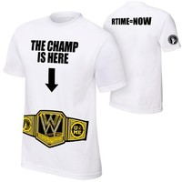 "John Cena ""The Champ Is Here"" Authentic T-Shirt - WWE"