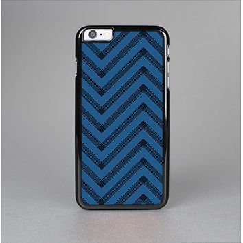 The Royal Blue & Black Sketch Chevron Skin-Sert Case for the Apple iPhone 6