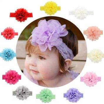 Baby Girls Ribbon Hair Bows Clips Fashion Lace Flower Headbands For Teens Women Girls Kids Pack Of 12(Colorful) (Color: Multicol