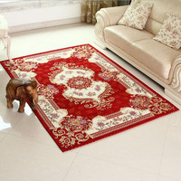 SunnyRain Classical Red Carpet Area Rug For Living Room Large Size Rugs And Carpets For Bedroom Slip Resistance tapis salon