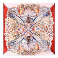 Multicolor Totem Print Silk Scarf not available