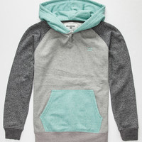 Billabong Grinder Boys Henley Hoodie Jade  In Sizes