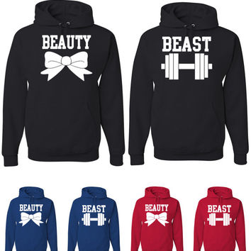 Beauty and Beast Couples Hoodies Funny Couple Matching Hoodies Disney Sweatshirts