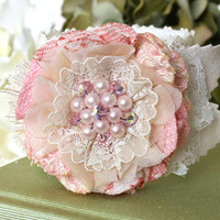 Wrist Corsage Bracelet - Unique Bridal and Wedding Jewelry