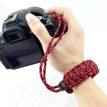 Outdoor Camera Accessories Paracord Bracelet use for Camera Camping Climbing  Parachute Cord  EDC Camping Survival Kits